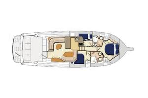 47' Riviera 47 Open Flybridge Series II 2008 Manufacturer Provided Image: Cabin Layout