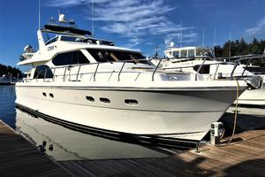 58' Hampton 580 Pilothouse 2008 Bow View
