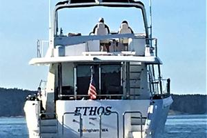 58' Hampton 580 Pilothouse 2008 Stern