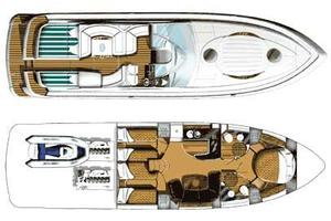 52' Fairline Targa 52 Gt 2005 Manufacturer Provided Image: Layout Plan