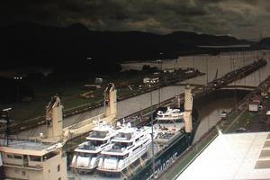 52' Krogen 52 2012 Ocean Liberty Going Through The Panama Canal