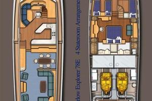 78' Marlow 2006/2017 78E Marlow Luxury Yacht 78ft 2006 General Arrangement
