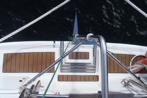49' Hunter 49 2009 Stern ladder and swim platform