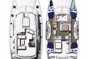 51' Leopard 51 Pc 2014 Cabin & Deck Layout