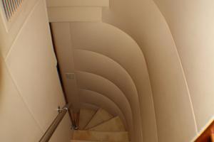 80' Hatteras 80 Motor Yacht 2005 Stairway Salon to Staterooms
