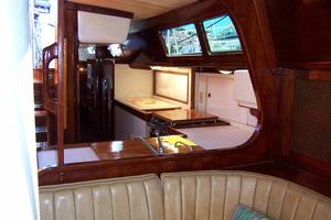 50' Gulfstar Center Cockpit Sloop 1977 50 Gulfstar CC  Salon To Galley View
