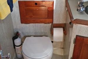 40' Bristol 40 sloop 1972 Electric Toilet w/additional storage