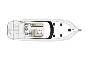 47' Riviera 47 Open Flybridge Series II 2008 Manufacturer Provided Image: Deck Layout