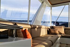 55' Navigator 55 Pilothouse 2012 Fly Bridge Starboard Side Lounge