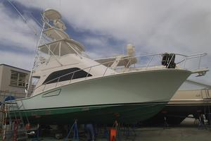 Isla Verde is a Cabo Flybridge Yacht For Sale in Stuart -Bottom Prepped for Painting-56
