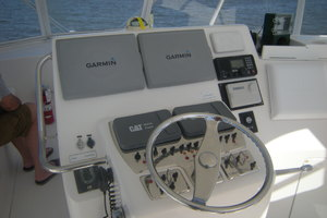 Isla Verde is a Cabo Flybridge Yacht For Sale in Stuart -Professional Helm Navigation-17