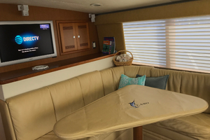 Isla Verde is a Cabo Flybridge Yacht For Sale in Stuart -Dinette with Cover-27