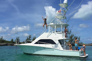 Isla Verde is a Cabo Flybridge Yacht For Sale in Stuart -Living The Dream-1