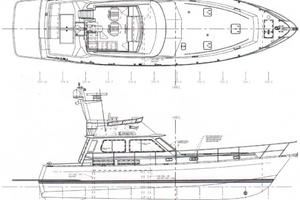 49' Alden Flybridge Express 49 2007 Boat Plans