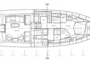 49' Alden Flybridge Express 49 2007 Interior Layout