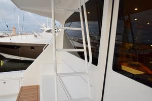 64' Viking Enclosed Bridge 2008 Cockpit