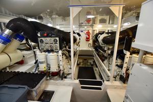 64' Viking Enclosed Bridge 2008 Engine Room