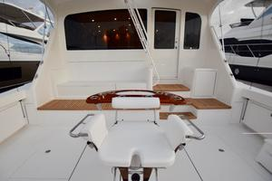 64' Viking Enclosed Bridge 2008 Cockpit
