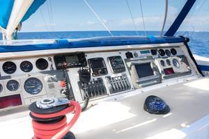 65' Custom 49 pax Day Charter Catamaran 2000 Helm instruments