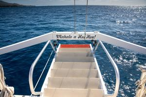 65' Custom 49 pax Day Charter Catamaran 2000 Forward Beach gangway