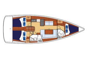 41' Beneteau Oceanis 41 2013 Layout 3 cabin/2 head