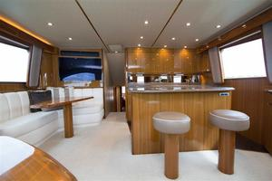 55' Viking Convertible 2014 Salon / Galley Island