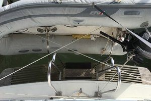 38' Marine Trader Double Cabin 1986 Midas Touch 1986 Marine Trader 38 Double Cabin Exterior Teak Swimdeck and dinghy.JPG