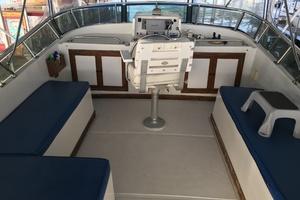 38' Marine Trader Double Cabin 1986 Midas Touch 1986 Marine Trader 38 Double Cabin Exterior Flybridge Seating.JPG