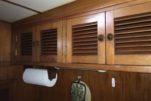 38' Marine Trader Double Cabin 1986 Midas Touch 1986 Marine Trader 38 Double Cabin Interior Galley Storage 1.JPG
