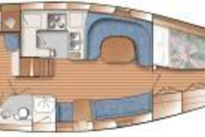47' Catalina 470 2001 Manufacturer's Interior Layout