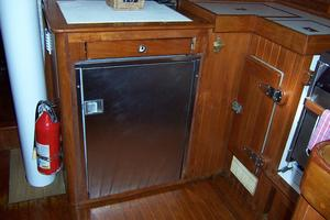 50' Mikelson Pilothouse Cutter 1987 50 Mikelson Galley Fridge
