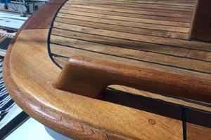 50' Mikelson Pilothouse Cutter 1987 50 Mikelson Beautiful Teak 4
