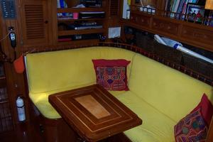 50' Mikelson Pilothouse Cutter 1987 50 Mikelson Galley Settee 3