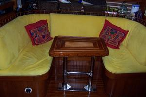 50' Mikelson Pilothouse Cutter 1987 50 Mikelson Galley Settee 2