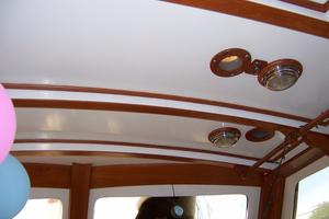 50' Mikelson Pilothouse Cutter 1987 50 Mikelson Salon Ceiling