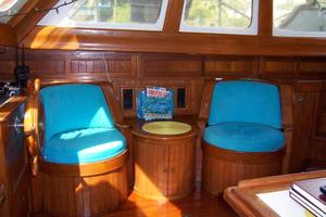 50' Mikelson Pilothouse Cutter 1987 50 Mikelson Salon Stbd Seating & Bar