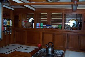 50' Mikelson Pilothouse Cutter 1987 50 Mikelson Galley Shelves