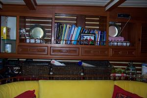 50' Mikelson Pilothouse Cutter 1987 50 Mikelson Galley Settee Shelving