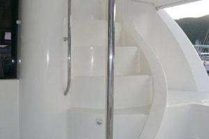 47' Leopard 47 PC 2008 Flybridge Stairs