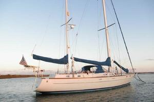 53' Pearson 530 Hybrid Powered Ketch 1981 1981 Pearson 530 Edwards Yacht Sales before new canvas