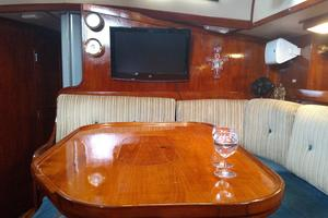 53' Pearson 530 Hybrid Powered Ketch 1981 1981 Pearson 530 Edwards Yacht Sales New Brightwork