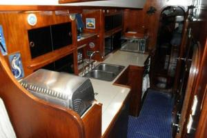 53' Pearson 530 Hybrid Powered Ketch 1981 1981 Pearson 530 Edwards Yacht Sales Tile Galley Cabin Sole