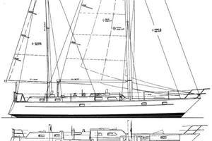 53' Pearson 530 Hybrid Powered Ketch 1981 1981 Pearson 530 Edwards Yacht Sales Bill Shaw Design