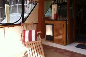53' Hatteras Motor Yacht 1981 Aft deck