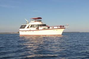 53' Hatteras Motor Yacht 1981 Strbd profile