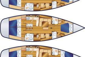 46' Hunter 460 2001 Tropical Attitude is the middle version