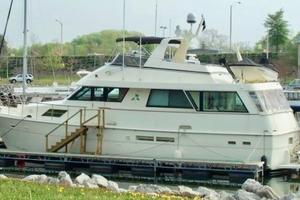 60' Hatteras Motor Yacht 1988 Side Profile