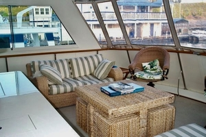 60' Hatteras Motor Yacht 1988 Lower Aft Deck