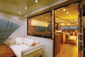 77' Riviera Sportfish 2015 Mezzanine Seating Aft of Main Salon
