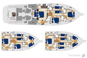 77' Riviera Sportfish 2015 General Arrangement-Lower Deck